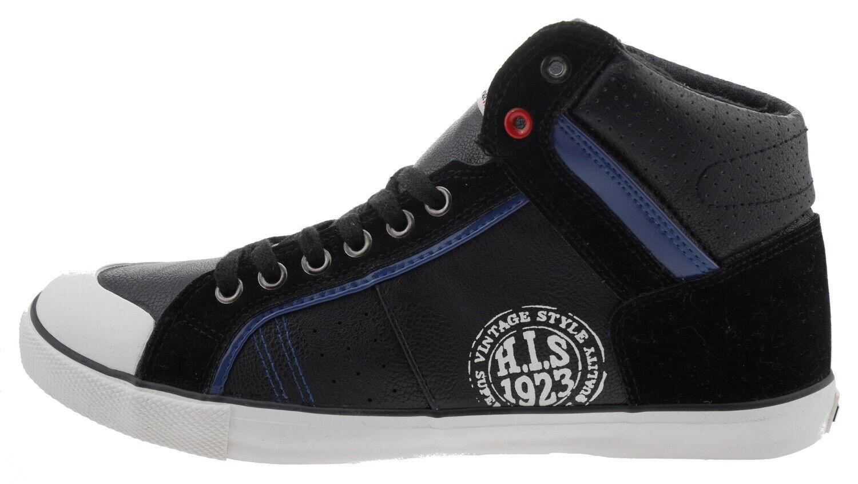 H.I.S H131-002 High-Top Sneaker black 179157