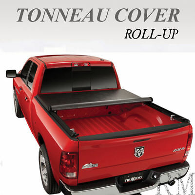 Fit 1988-2000 Chevy GMC C//K 6.5FT Long Bed Lock Soft Roll Up Tonneau Cover