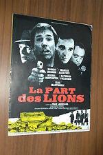 MICHEL CONSTANTIN CHARLES AZNAVOUR LA PART DES LIONS 1971 RARE SYNOPSIS