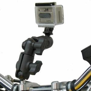 Ram-Moto-M8-Morsetto-Manubrio-Girevole-Braccio-Camera-Supporto-Per-GoPro-Hero
