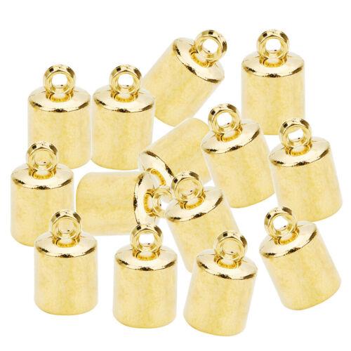 100Pcs DIY Jewelry Tassel Cap Cord Bead End Caps Tassel Crimp Connectors 6mm