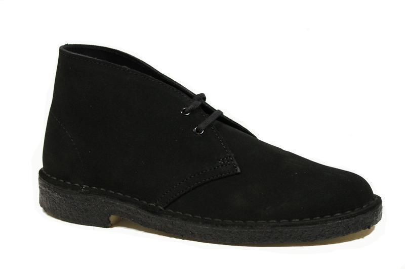 El Clásico Clarks Originals The Desert Boot Boot Boot Gamuza Negra 2 26107162 (2B) 337722