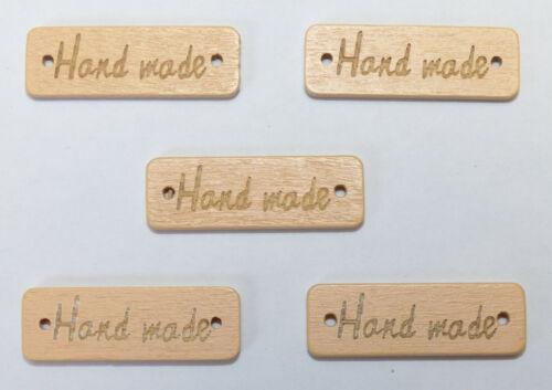 """Label Anhänger Etikett Holz Handmade /""""HANDMADE/"""" Deko Nähen Hobby DIY"""