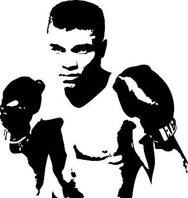 Boxing Decal Sticker Muhammad Ali MMA Boxer Gloves Kick Sport UFC Car Window