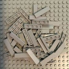 Lego 4x smooth tile plate 1x4 with groove blue//blue 2431 new