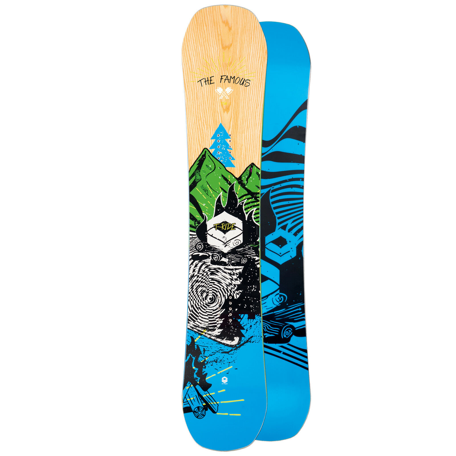 HERREN FREESTYLE CAMBER SNOWBOARD FTWO T-RIDE 2019  154 CM