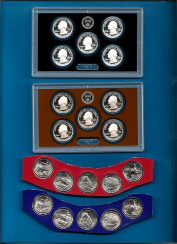 20 Coins P D S S 2014 PDSS P//D BU plus Clad and Silver Proof Quarters
