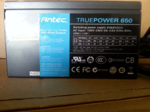 Antec TruePower TP-650 650W SLI Certified Power Supply Moduler cable included