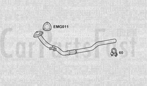 2.0 Benzina 2001-11 3B3 /> 2005-05 SILENZIATORE di scarico VW PASSAT