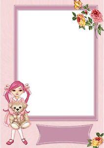 100g//qm 20 Blatt Briefpapier Motivpapier mit Motiv für Babys und Kinder
