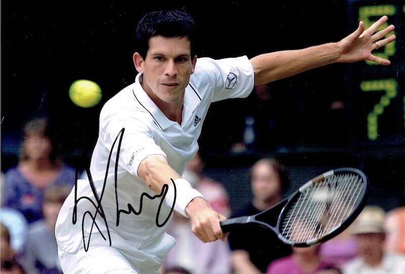 TIM HENMAN  - Signed Colour action photo