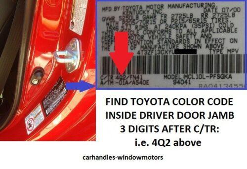 FOR 98-03 SIENNA 1C8 REAR SLIDING /& DRIVER DOOR LUNAR MIST METALLIC 2 HANDLE SET