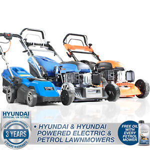 Electric or Petrol Lawn Mower range of size - Push OR Self Propelled Lawnmower