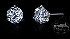 2 ct tw Martini Earrings Top Russian Extra Brilliant CZ Moissanite Simulant SS