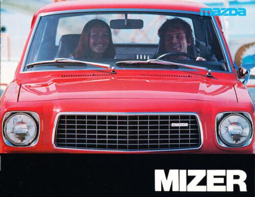 1976 Mazda Mizer Deluxe Sales Brochure Coupe Wagon