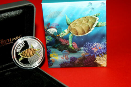 Australia 2011 HAWKSBILL TURTLE  Sea Life II The Reef Silver Coin 50 cent