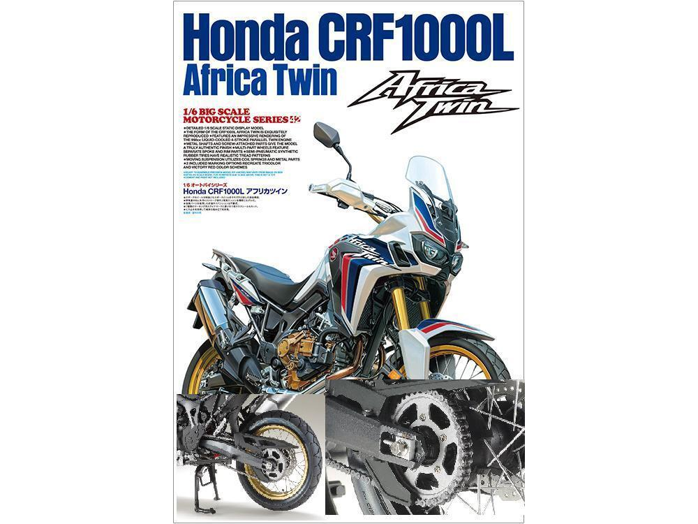 Tamiya1 6 honda africa twin crf1000l  detail bis kette hat motorrad - modell fs