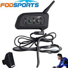V6 1200M Bluetooth BT Intercom Earhook Earphone Suit for Referee Judge/Biker