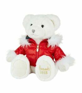 Christmas Bear.Harrods Oliver 2018 Christmas Bear Footdated 31cm