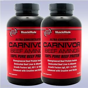 a7d7cdfde Image is loading MUSCLEMEDS-CARNIVOR-BEEF-AMINOS-2-PACK-300-TABLETS-