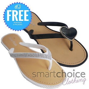 dc1be785cad31a WOMENS LADIES TOE BOW DIAMANTE JELLY SUMMER FLAT FLIP FLOP THONG ...