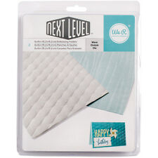 """Next Level Embossing Folders 6""""X6"""" 2/Pkg-Wave by We R Memory Keepers"""