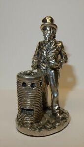 Royal-Hampshire-Art-Foundry-Polished-Pewter-Figure-Chestnut-Seller-D2