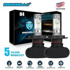 H4 COB LED Bulb HID White 360° Hi/Low Beam Motorcycle Headlight 6000K High Power