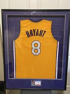 Details about Vintage Kobe Bryant Signed Jersey Framed PSA / DNA Graded #8 Autographed