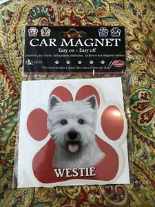 West Highland Terriers Westies Have More Fun! Dog Bone Shaped Magnets