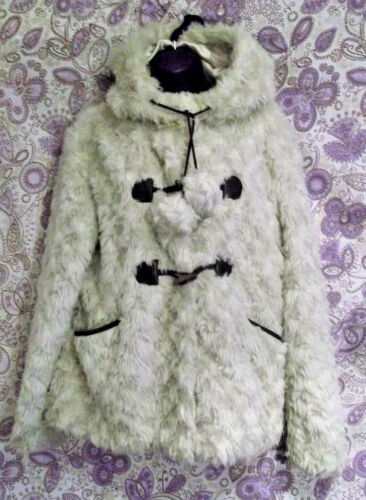 unusual caldo Winter Fastening Sontuosamente Fluffy Coat e ribbon 14 Size xIwzAq6