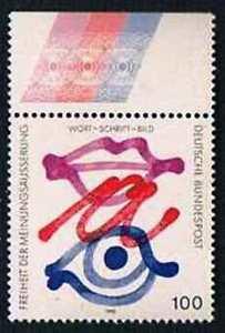 Allemagne-1995-Mi-N-1789-Mnh-Freiheit-der-Meinungsauserung