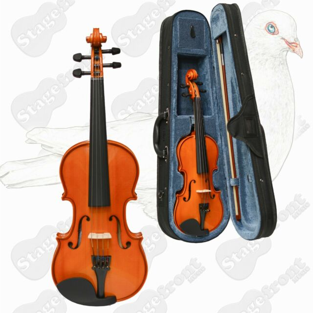 VALENCIA VIOLIN  SV111 1/4 SIZE VIOLIN OUTFIT. SOLID CARVED TOP WITH CASE - NEW