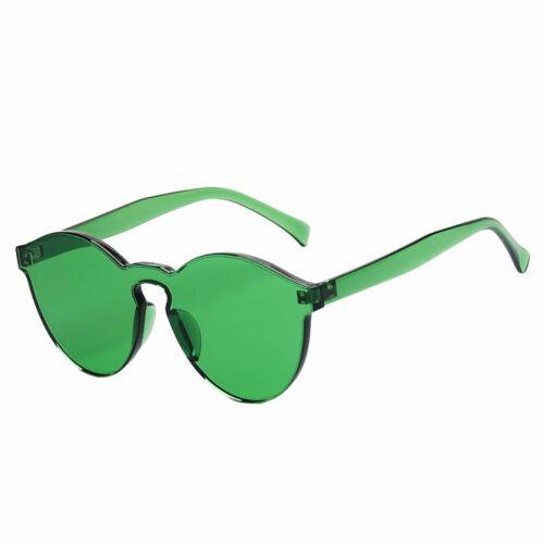 Unisex High Quality Transparent Colour Frame Rimless Retro Vintage Sunglasses