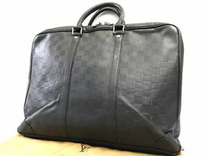 Louis-Vuitton-Damier-Infini-Voyage-Business-Hand-Bag-Briefcase-Black-Auth