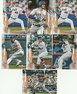 2020-Topps-Opening-Day-Jeff-McNeil-Jacob-deGrom-Amed-Rosario-Smith-New-York-Mets