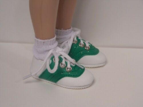 "Debs GREEN Saddle Doll Shoes For 14/"" Kish Chrysalis Lark Piper Song Wren Raven"