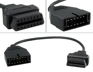 Details about 12 Pin ALDL OBD1 to 16 Pin OBD2 Connector Adapter Cable for  GM Chevrolet GMC