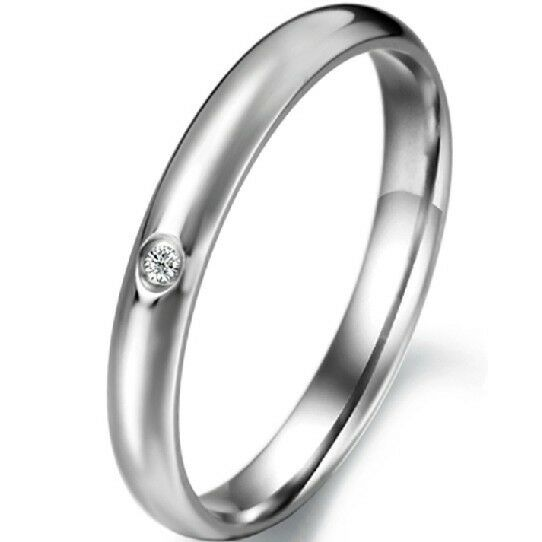 2MM Tail Ring Stainless Steel SZ 5 6 7 8 9 Wedding Engagement Birthday Child Kid
