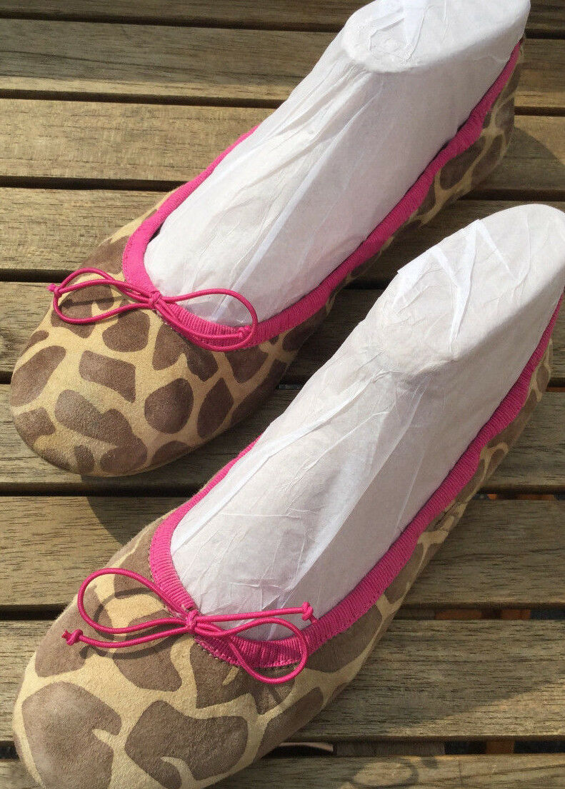 mujer carolina bailarinas pumps PEEP TOE sandalia de print de sandalia leopardo rosadodo PVP 169 euros 91f09d