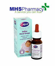 Calpol Saline Nasal Drops 15ml Gentle Natural Relief Nasal congestion,From Birth