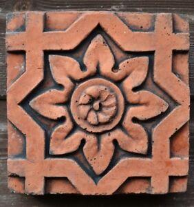 Details About Victorian Decorative Brick Copy Antiqued Terracotta Wall Tile Octagonal Flower