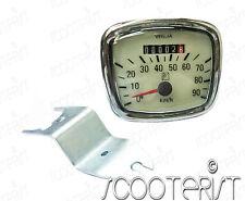 Vespa Speedo Speedometer Tacho Contachliometri VNA VNB 90 Km Cream / Off White
