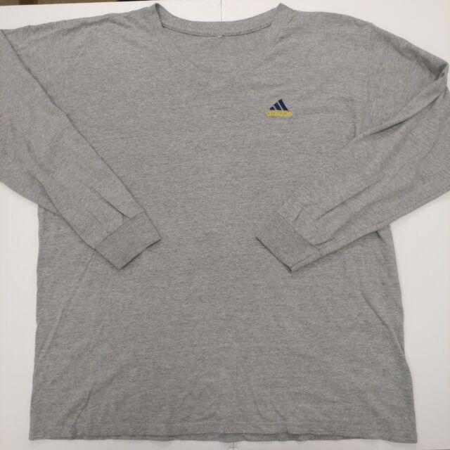 Adidas Long Sleeve T Shirt Size XL Vintage Gray 100% Cotton 90s O-53
