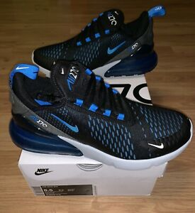 Details about New Nike Air Max 270 Black Blue Grey Men's Size 8.5 Running Sneakers AH8050 019