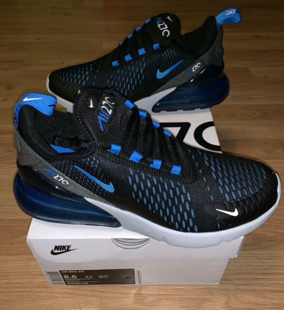 best sneakers 4b346 42f68 New Nike Air Max 270 Black Blue Grey Men's Size 8.5 Running Sneakers  AH8050-019