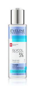 EVELINE glicole terapia 5% tonico contro imperfezioni per tutti i tipi di pelle 110 ML