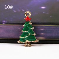 2016 Fashion Plated Enamel Jewelry Santa Xmas Christmas Charms Pendants Pop JP