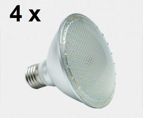 4 x 12 Watt PAR 30 LED Lampe E27 warmweiß 120° Ausstrahlung = 100 Watt Glühlampe