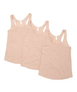 New-Women-039-s-3-Pack-Taupe-Solid-Racerback-Tank-Top-Sleeveless-Yoga-Tops-S-M-L-XL